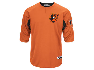 Baltimore Orioles Majestic MLB Men's On-Field BP Trainer Jersey