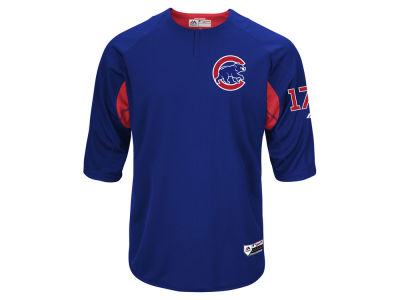 Chicago Cubs Kris Bryant Majestic MLB Men's On-Field BP Trainer Jersey
