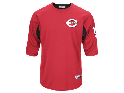 Cincinnati Reds Joey Votto Majestic MLB Men's On-Field BP Trainer Jersey