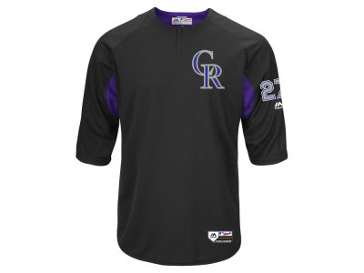 Colorado Rockies Trevor Story Majestic MLB Men's On-Field BP Trainer Jersey