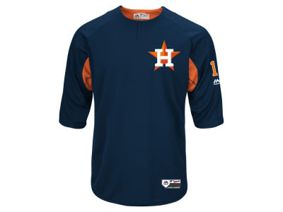 Houston Astros Majestic MLB Men's On-Field BP Trainer Jersey