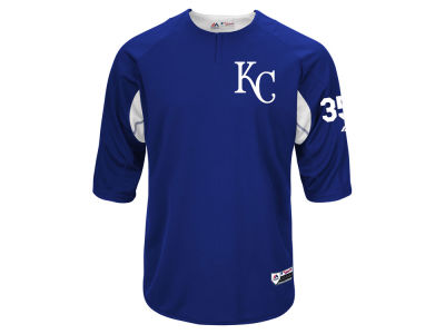 Kansas City Royals Eric Hosmer Majestic MLB Men's On-Field BP Trainer Jersey