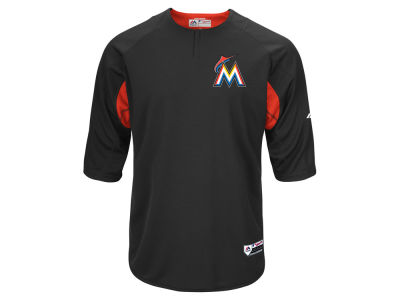 Miami Marlins Majestic MLB Men's On-Field BP Trainer Jersey