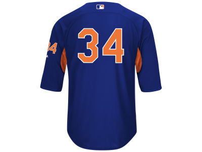 New York Mets Noah Syndergaard Majestic MLB Men's On-Field BP Trainer Jersey