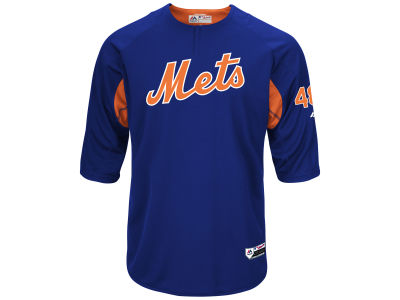 New York Mets Jacob deGrom Majestic MLB Men's On-Field BP Trainer Jersey
