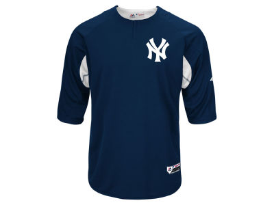 New York Yankees Majestic MLB Men's On-Field BP Trainer Jersey
