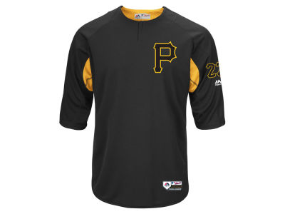 Pittsburgh Pirates Majestic MLB Men's On-Field BP Trainer Jersey