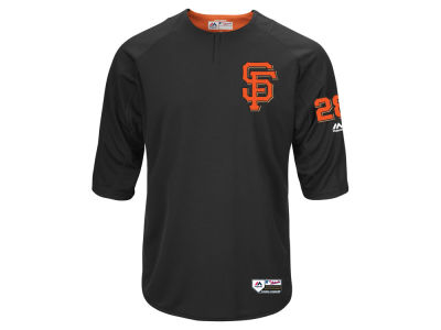 San Francisco Giants Buster Posey Majestic MLB Men's On-Field BP Trainer Jersey