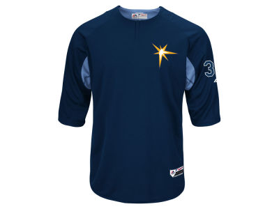 Tampa Bay Rays Majestic MLB Men's On-Field BP Trainer Jersey