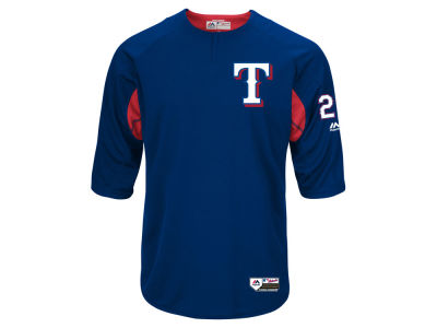 Texas Rangers Adrian Beltre Majestic MLB Men's On-Field BP Trainer Jersey