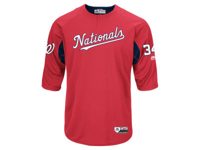 Washington Nationals Majestic MLB Men's On-Field BP Trainer Jersey