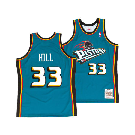 Detroit Pistons Grant Hill Mitchell & Ness NBA Authentic Jersey