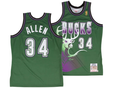 Milwaukee Bucks Ray Allen Mitchell and Ness NBA Authentic Jersey