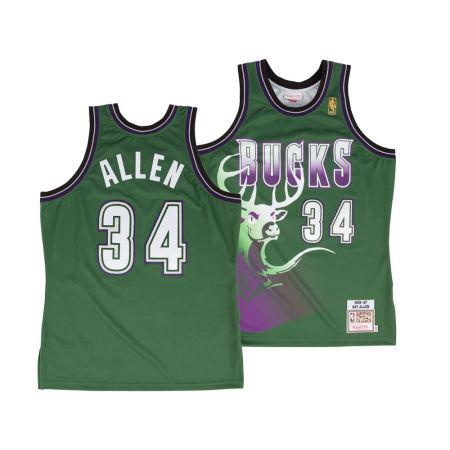 Milwaukee Bucks Ray Allen Mitchell & Ness NBA Authentic Jersey
