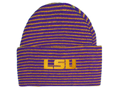 LSU Tigers NCAA Newborn Stripe Knit Cap