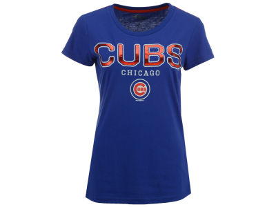 Chicago Cubs G-III Sports MLB Women's Round the Bases Foil T-Shirt