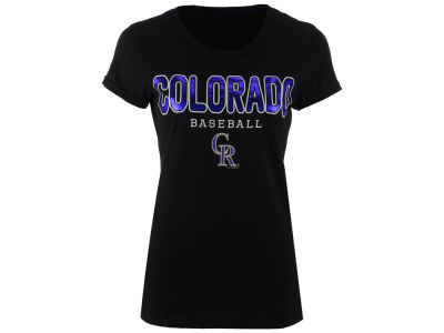 Colorado Rockies GIII MLB Women's Round the Bases Foil T-Shirt