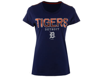 Detroit Tigers G-III Sports MLB Women's Round the Bases Foil T-Shirt