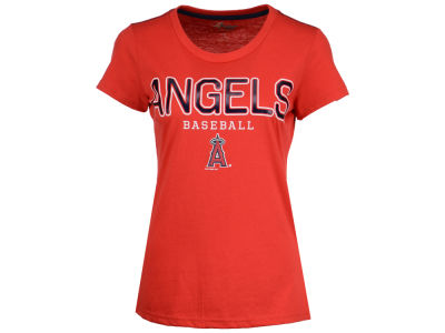 Los Angeles Angels GIII MLB Women's Round the Bases Foil T-Shirt