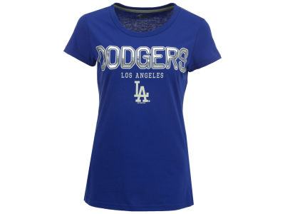 Los Angeles Dodgers GIII MLB Women's Round the Bases Foil T-Shirt