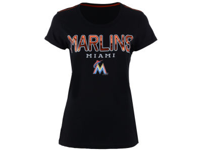 Miami Marlins GIII MLB Women's Round the Bases Foil T-Shirt