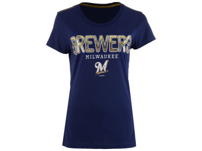 Milwaukee Brewers G-III Sports MLB Women's Round the Bases Foil T-Shirt