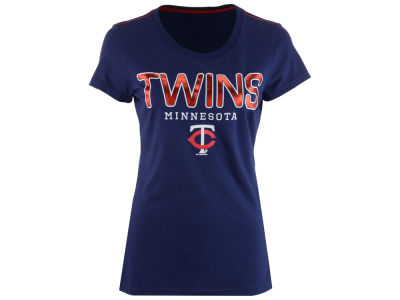 Minnesota Twins G-III Sports MLB Women's Round the Bases Foil T-Shirt