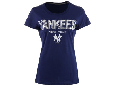 New York Yankees GIII MLB Women's Round the Bases Foil T-Shirt