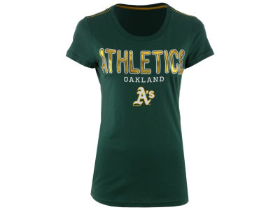 Oakland Athletics GIII MLB Women's Round the Bases Foil T-Shirt