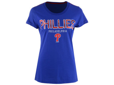 Philadelphia Phillies G-III Sports MLB Women's Round the Bases Foil T-Shirt