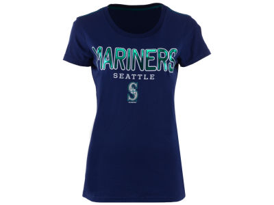 Seattle Mariners G-III Sports MLB Women's Round the Bases Foil T-Shirt