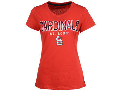 St. Louis Cardinals GIII MLB Women's Round the Bases Foil T-Shirt