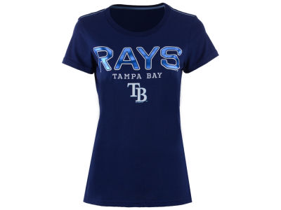 Tampa Bay Rays GIII MLB Women's Round the Bases Foil T-Shirt