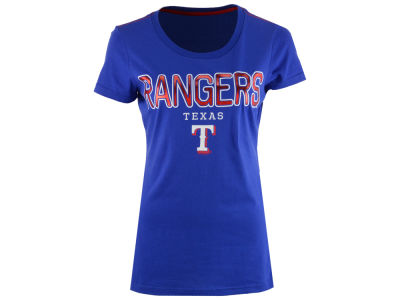 Texas Rangers G-III Sports MLB Women's Round the Bases Foil T-Shirt