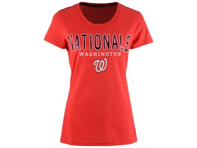 Washington Nationals G-III Sports MLB Women's Round the Bases Foil T-Shirt