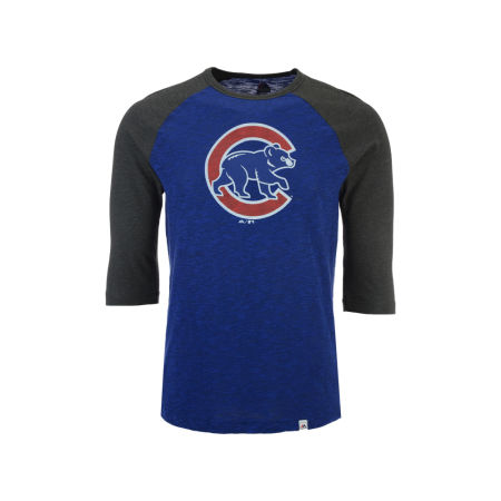 Chicago Cubs Majestic MLB Men's Grueling Raglan T-Shirt