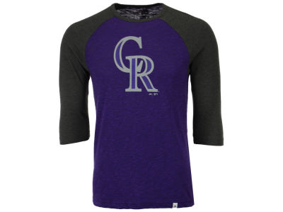 Colorado Rockies Majestic MLB Men's Grueling Raglan T-Shirt