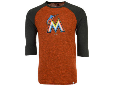 Miami Marlins Majestic MLB Men's Grueling Raglan T-Shirt