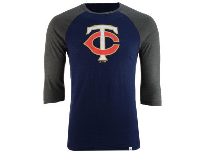 Minnesota Twins Majestic MLB Men's Grueling Raglan T-Shirt