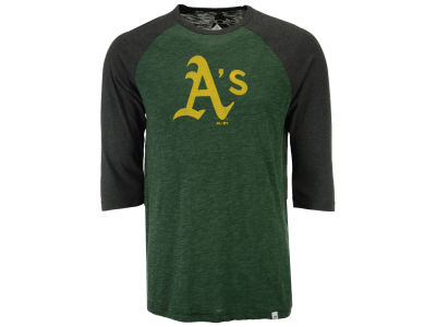 Oakland Athletics Majestic MLB Men's Grueling Raglan T-Shirt