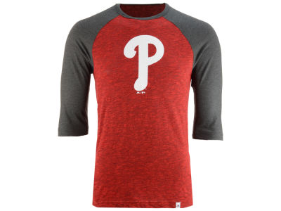 Philadelphia Phillies Majestic MLB Men's Grueling Raglan T-Shirt