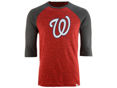 Washington Nationals Majestic MLB Men's Grueling Raglan T-Shirt