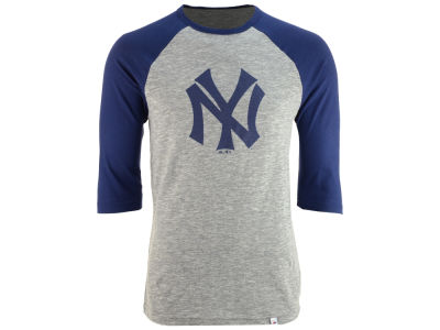 New York Yankees Majestic MLB Men's Coop Grueling Raglan T-shirt