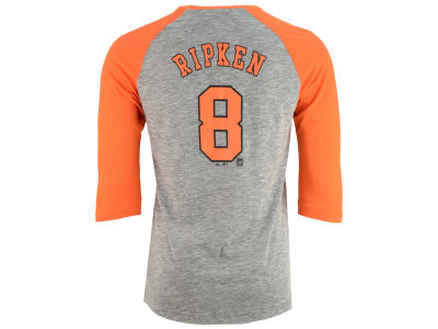 Baltimore Orioles Cal Ripken, Jr Majestic MLB Men's Coop Player Entry Raglan T-Shirt