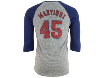 Boston Red Sox Pedro Martinez Majestic MLB Men's Coop Player Entry Raglan T-Shirt
