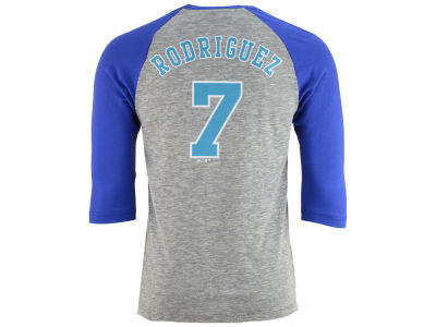 Miami Marlins Ivan Rodriguez Majestic MLB Men's Coop Player Entry Raglan T-Shirt
