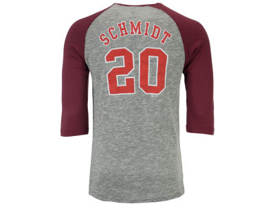 Philadelphia Phillies Mike Schmidt Majestic MLB Men's Coop Player Entry Raglan T-Shirt