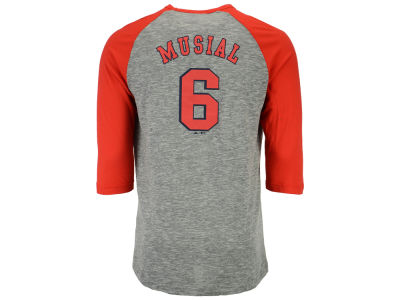 St. Louis Cardinals Stan Musial Majestic MLB Men's Coop Player Entry Raglan T-Shirt