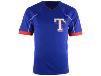 Texas Rangers Majestic MLB Men's Emergence Top