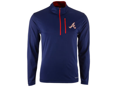 Atlanta Braves Majestic MLB Men's Six-Four-Three 1/2 Zip Pullover